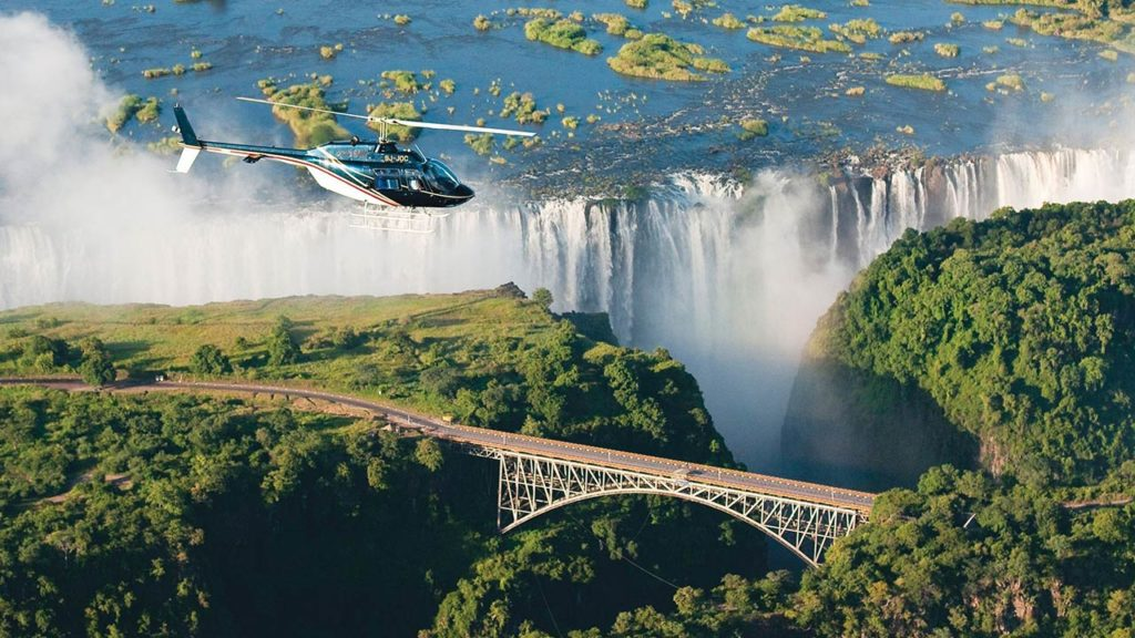 African Incentive Travel Activities Scenic Helicopter Flight Over the Falls
